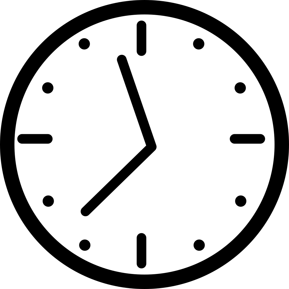 Png clock. Round wall svg icon
