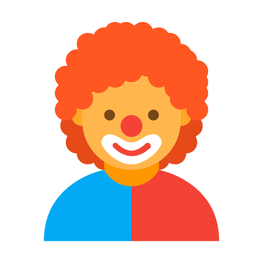 Png clown hair. Comedy icon free of
