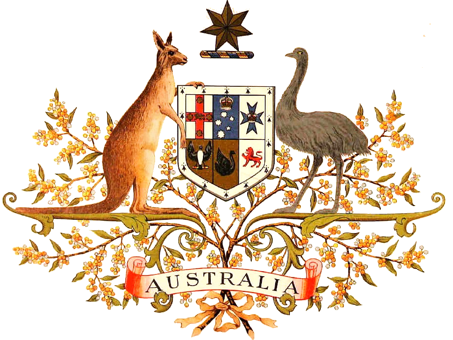 Australian drawing animal. File coat of arms