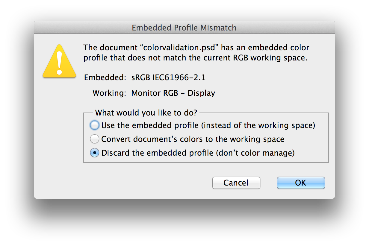 Png color profile. Are you using correct