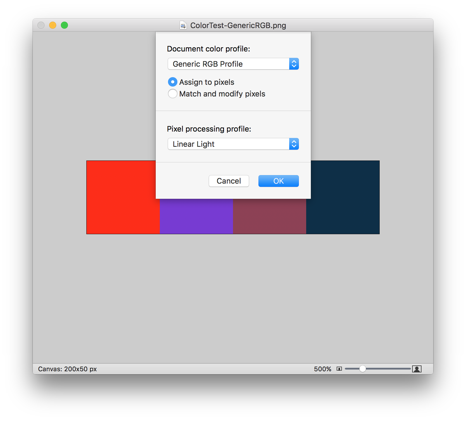 Png color profile. Management in your tools