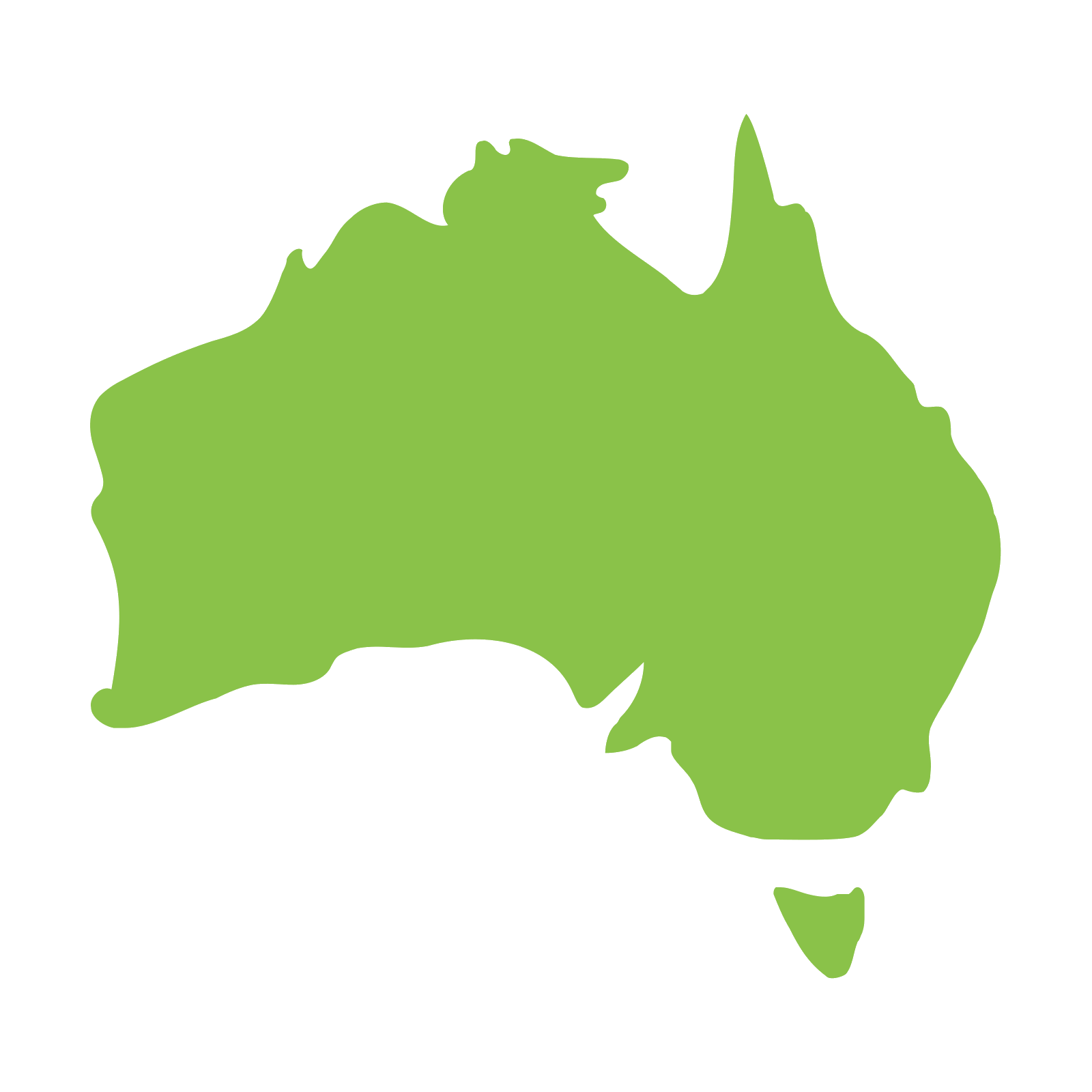 Png country. Australia map icon