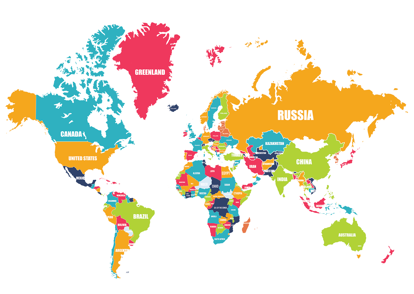 Maps Vector Large World Transparent & PNG Clipart Free Download - YA ...