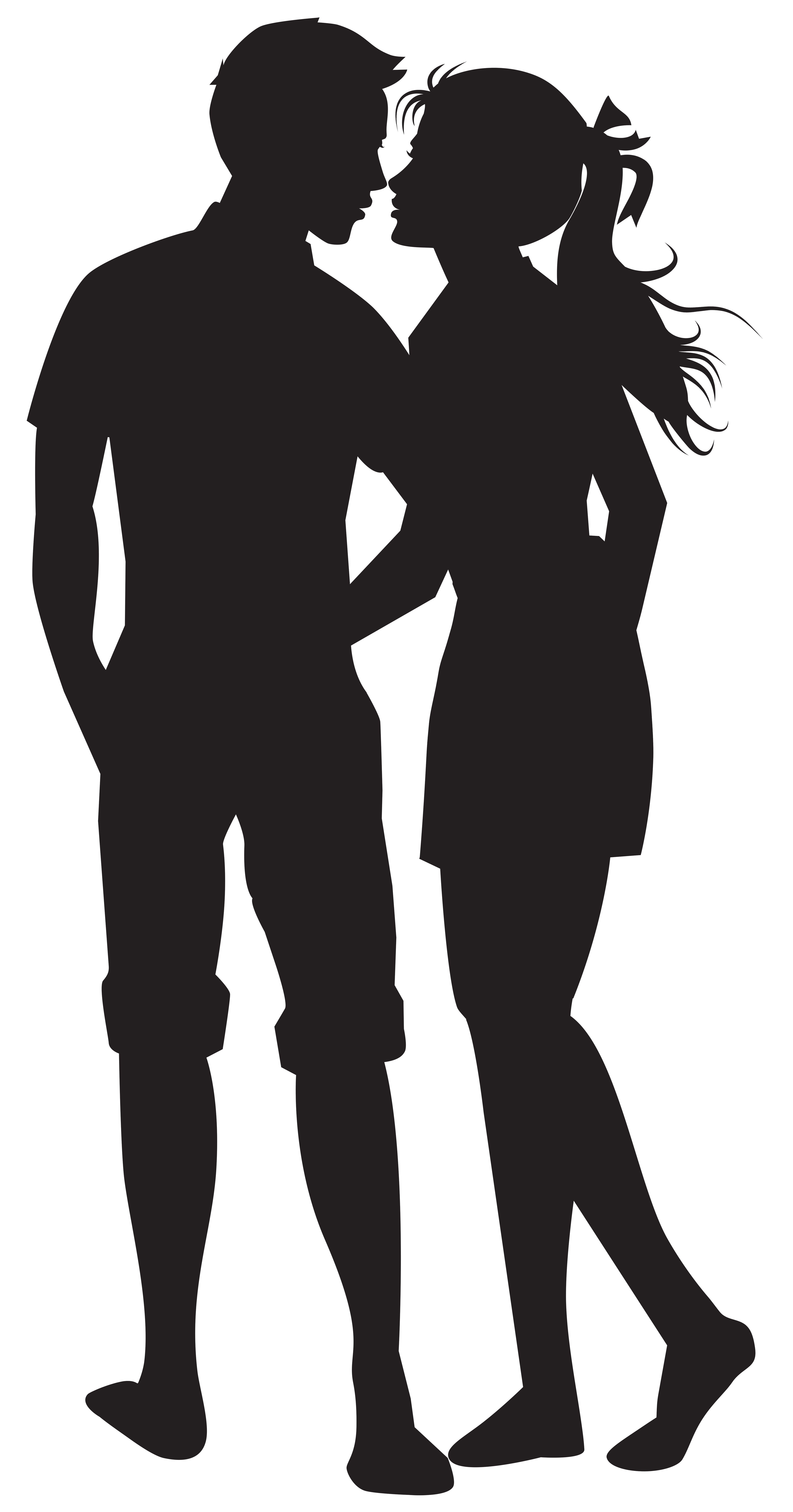 Png couple. Silhouettes clip art image