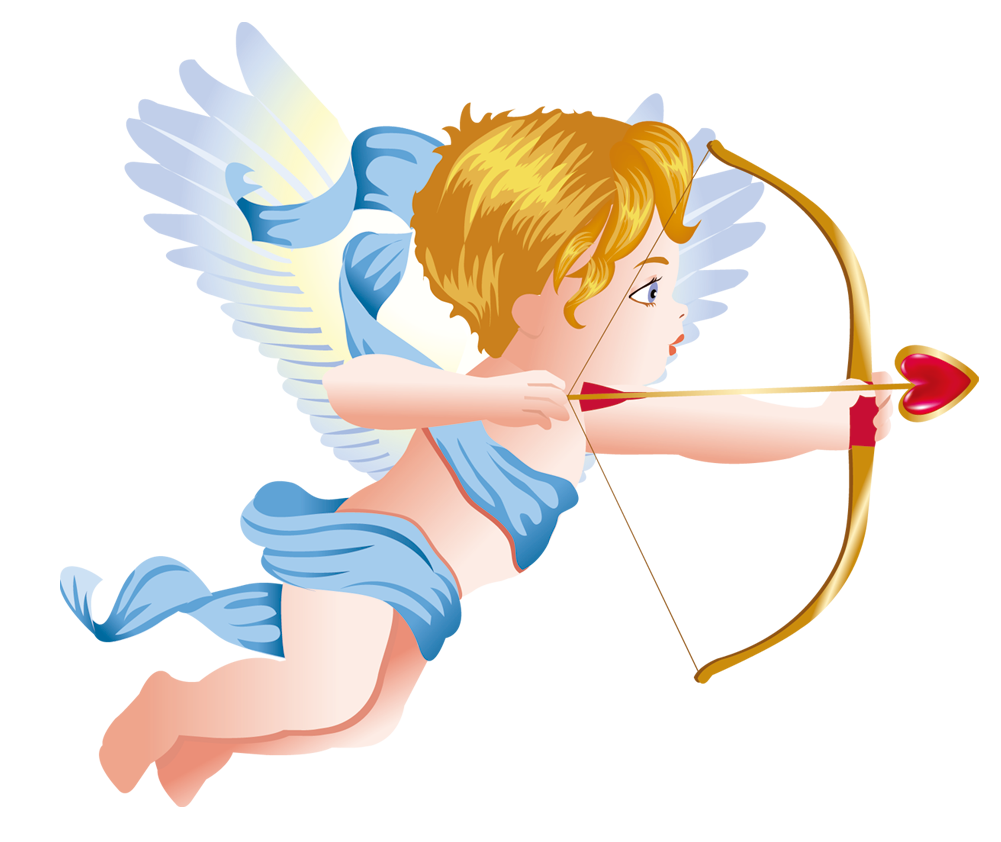 Png cupid. Cupids bow angel clip