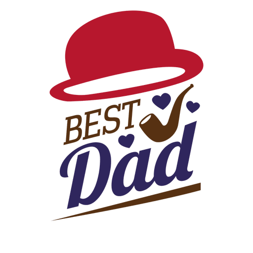 Stickers vector transparent. Fathers day best dad