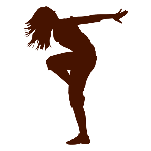 Female dancing silhouette png. Dancer break dance transparent