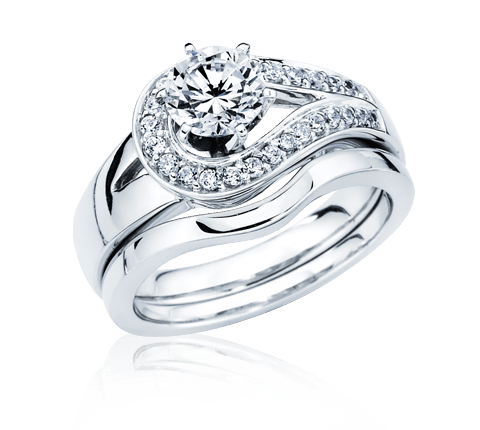 Silver wedding ring png. Diamond jewelry transparent stickpng