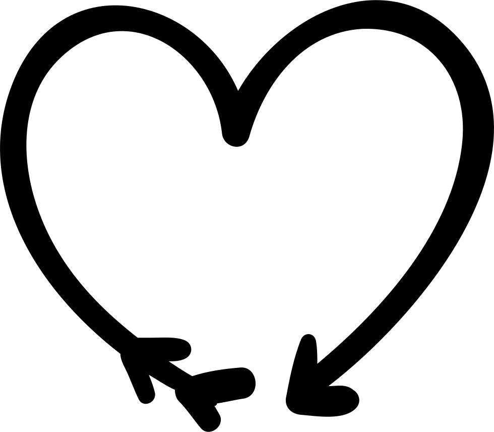 Png doodle arrow. And heart svg icon