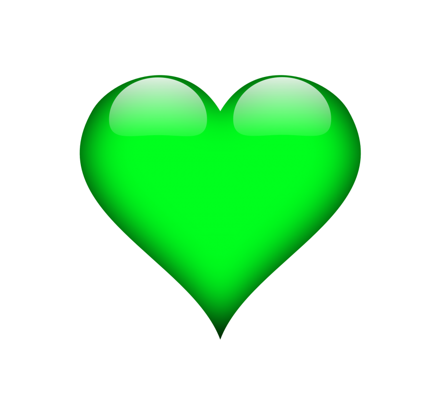 3d heart png. Green d transparent background