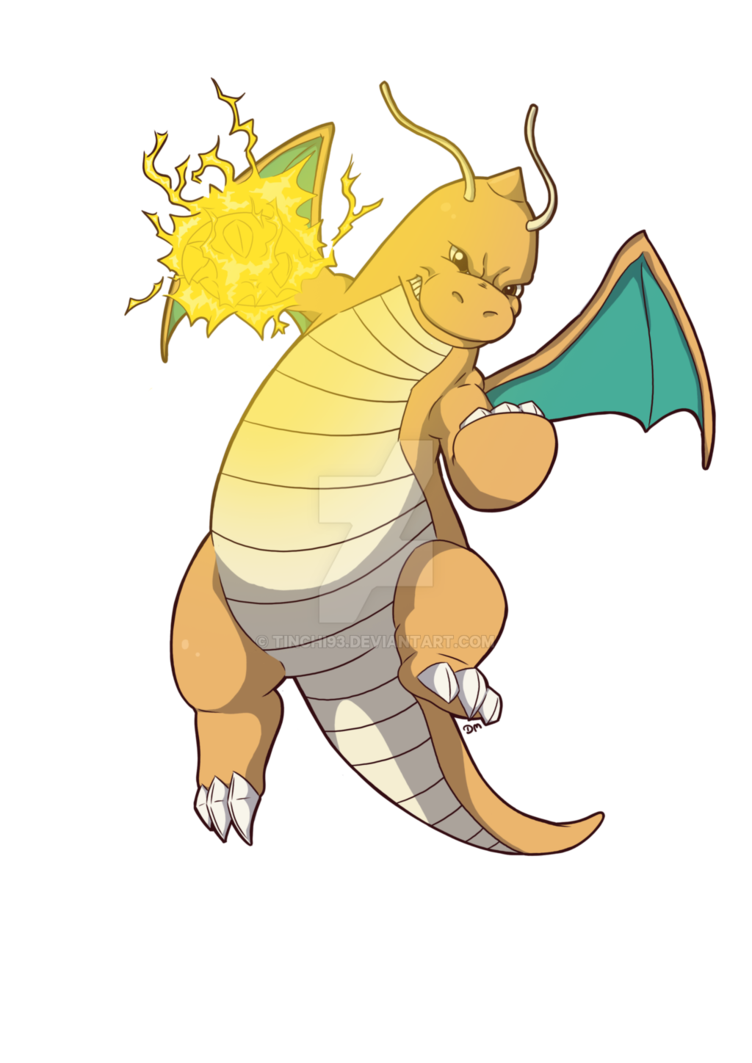 Png dragonite. Thunder punch by tinchi