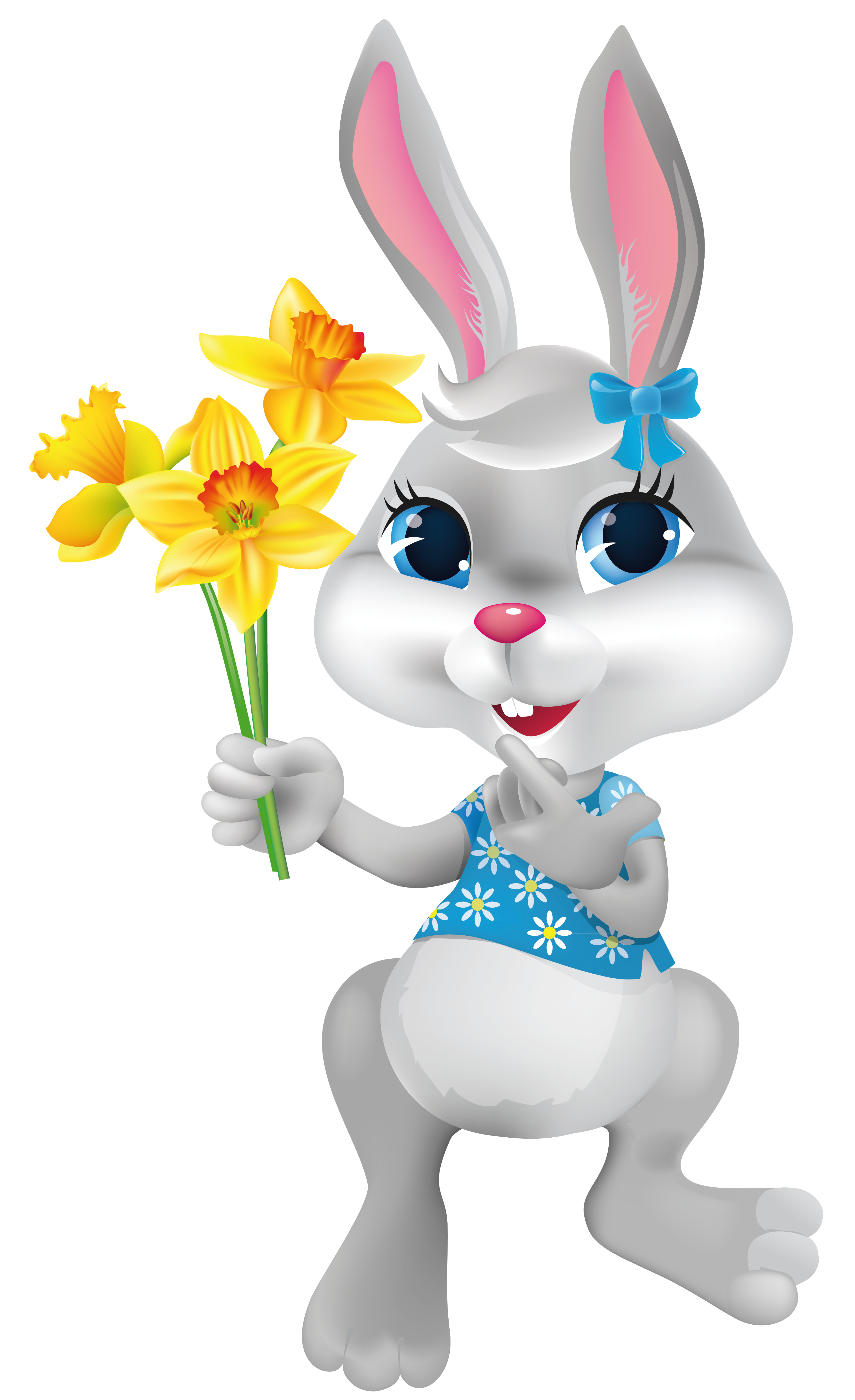 Bunny with daffodils png. Daffodil clipart easter clipart stock