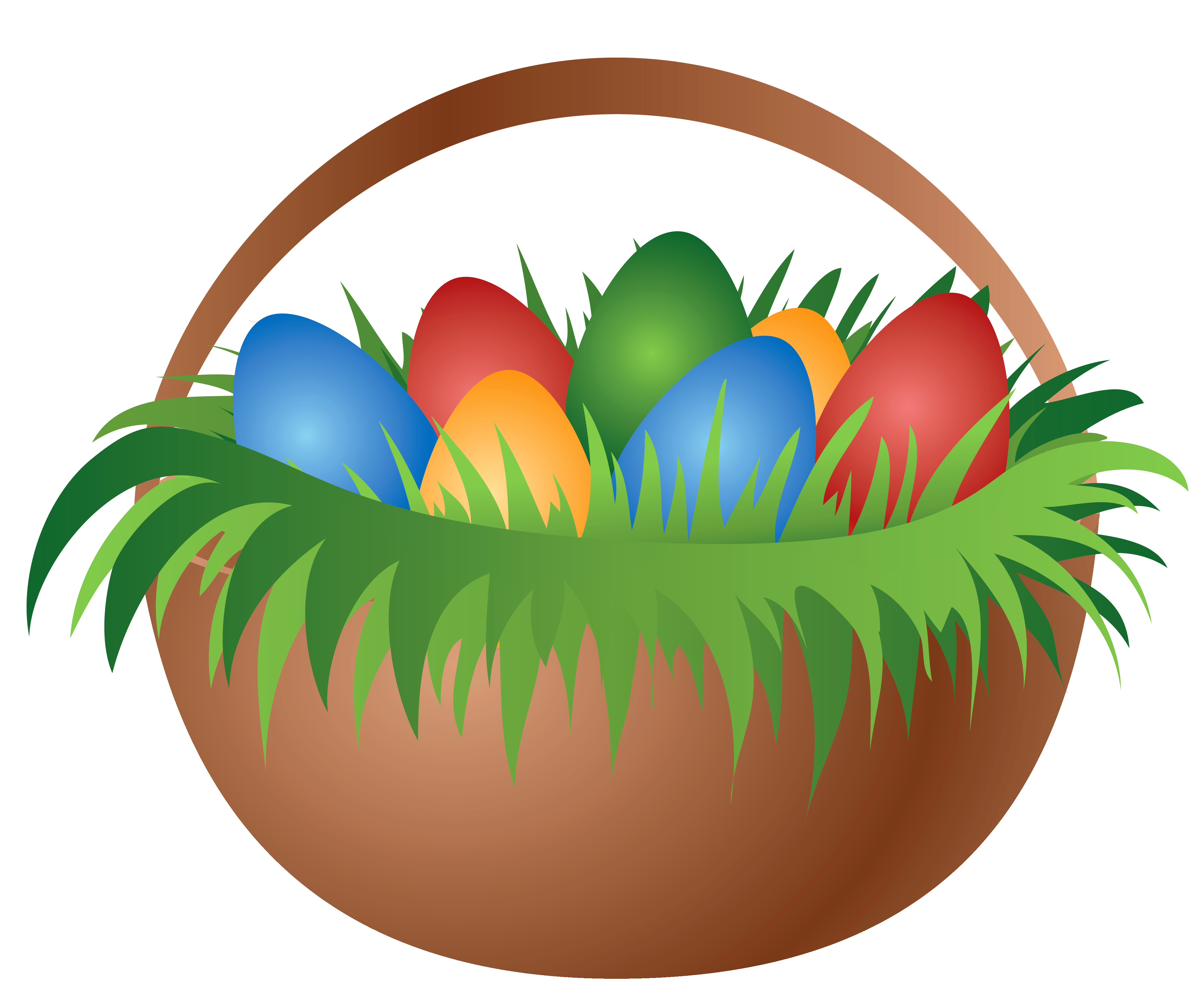 Png easter candy. Painted basket with eggs