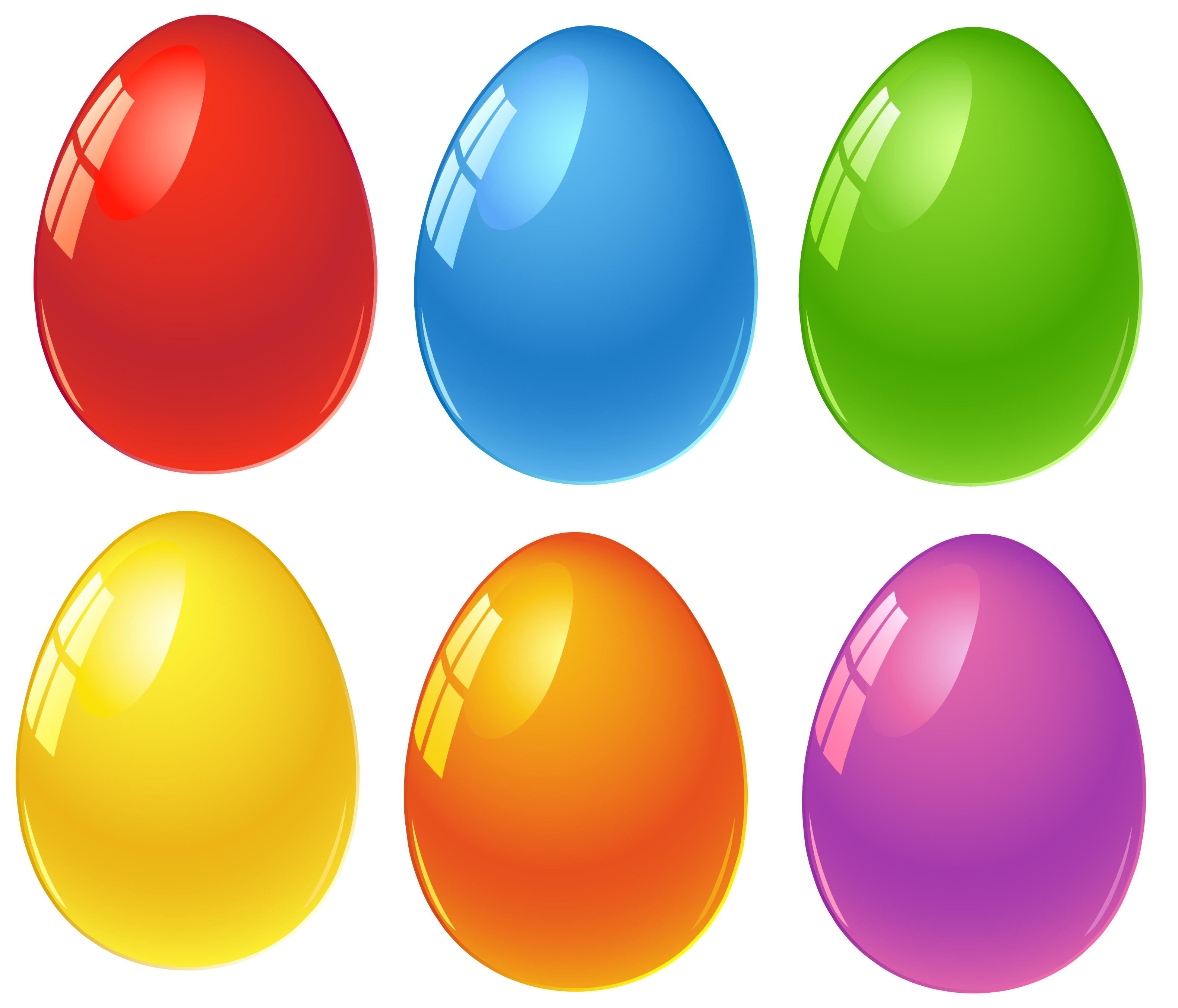 Plastic eggs png. Colored easter clipart obr