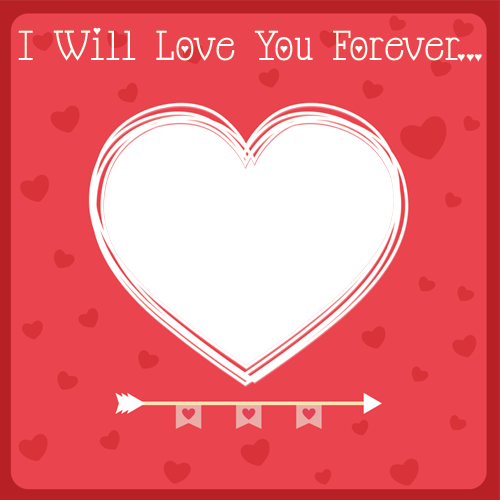Png edit online. Love you forever heart