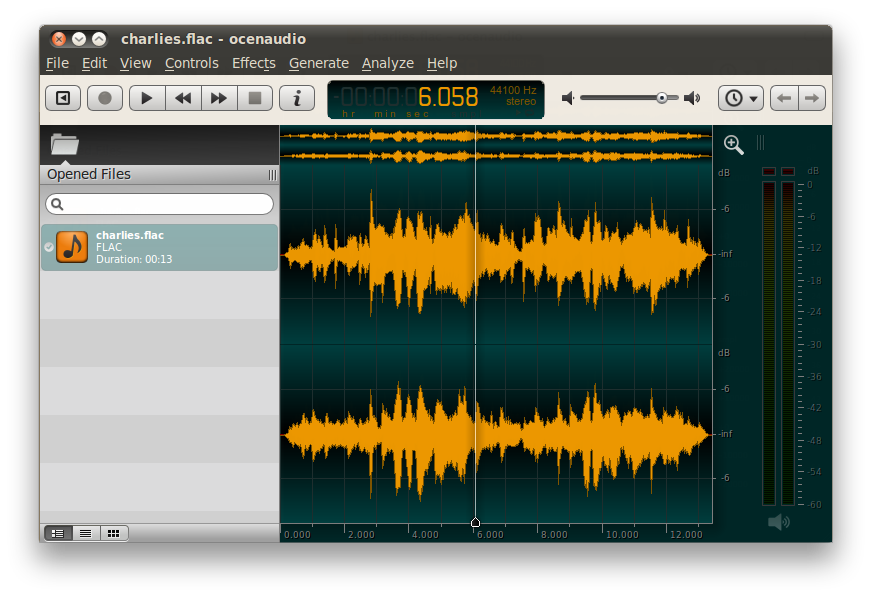 Ocenaudio easy fast and. Png editor linux library