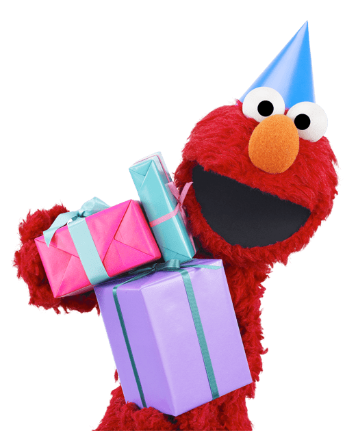 Png elmo. Sesame street with gifts