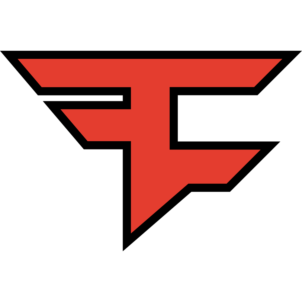 Call of duty esports. Faze drawing clan graphic black and white stock