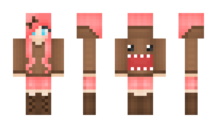 Png files for minecraft skins. Domo girl skin pe