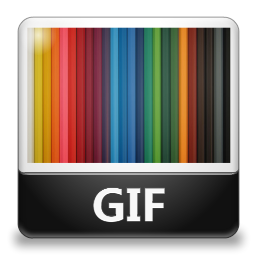 Gif or png. File icon lozengue filetype