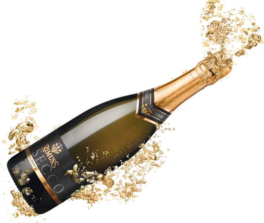Png files with transparent background. Champagne popping mart