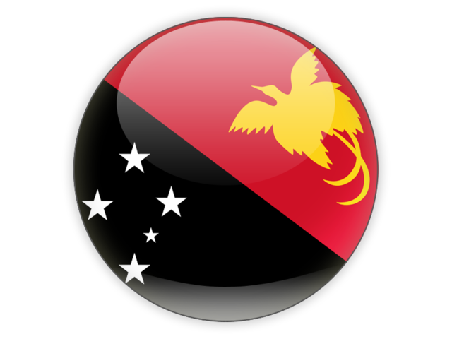 Png new guinea. Round icon illustration of