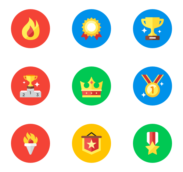 Png flat icons. Award free vector rewards