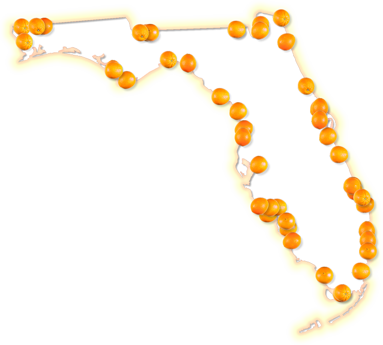 Fancy frame style maps. Florida png graphic black and white