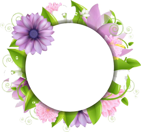Png flowers borders. Transparent images all