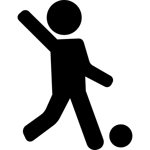 Soccer player icon png. Football game page svg