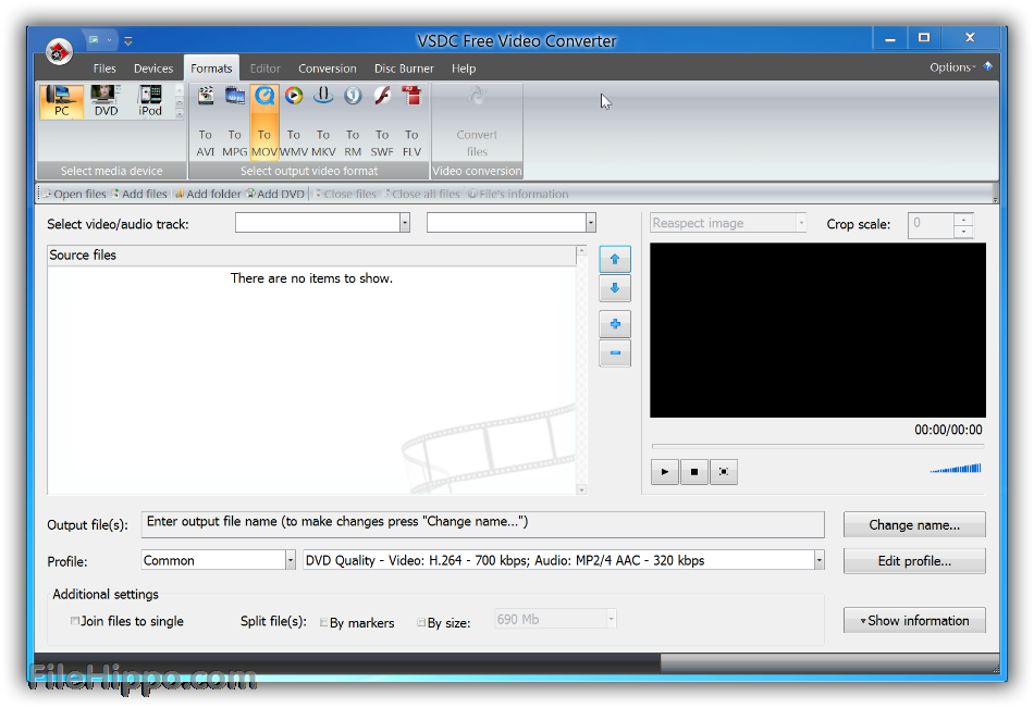 How to convert to png format. Download vsdc free video