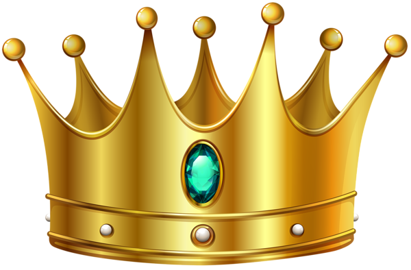 Image clip png. Gold crown with diamond