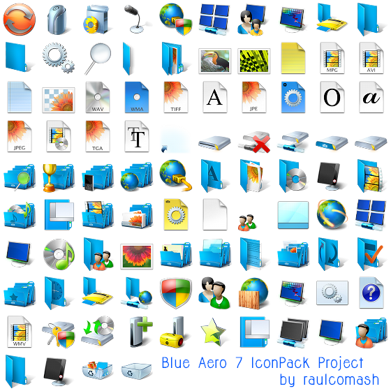Windows 7 png icons. Free xp vista style