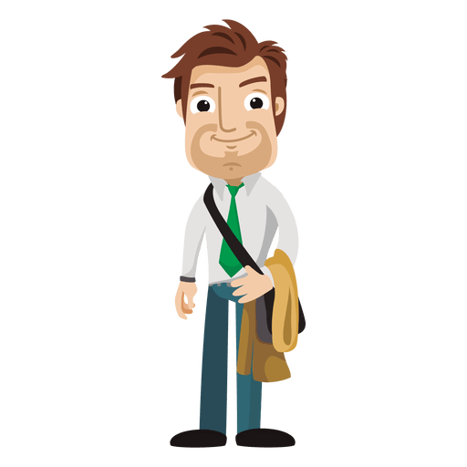 Person svg cartoon. Funny architect transparent png