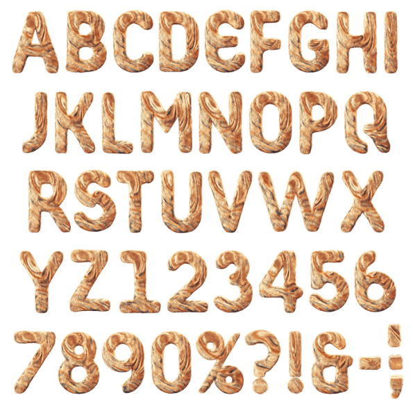 Png furry alphabets. Express your love for