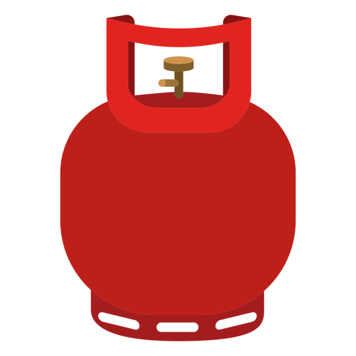 Small gas icon transparent. Cylinder vector banner transparent library