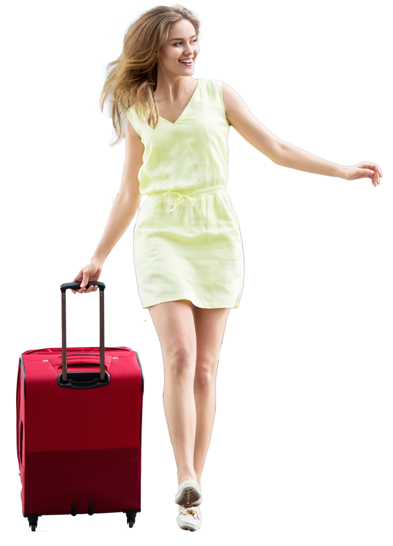 Png girl. Travel family transparent image