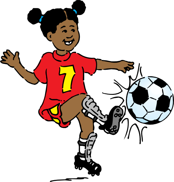 Girl playing soccer clip. Darts clipart player clipart free download