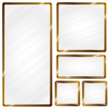 Metallic vector psd. Glass effect png images