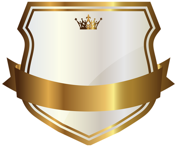 Gold labels png. White label with banner