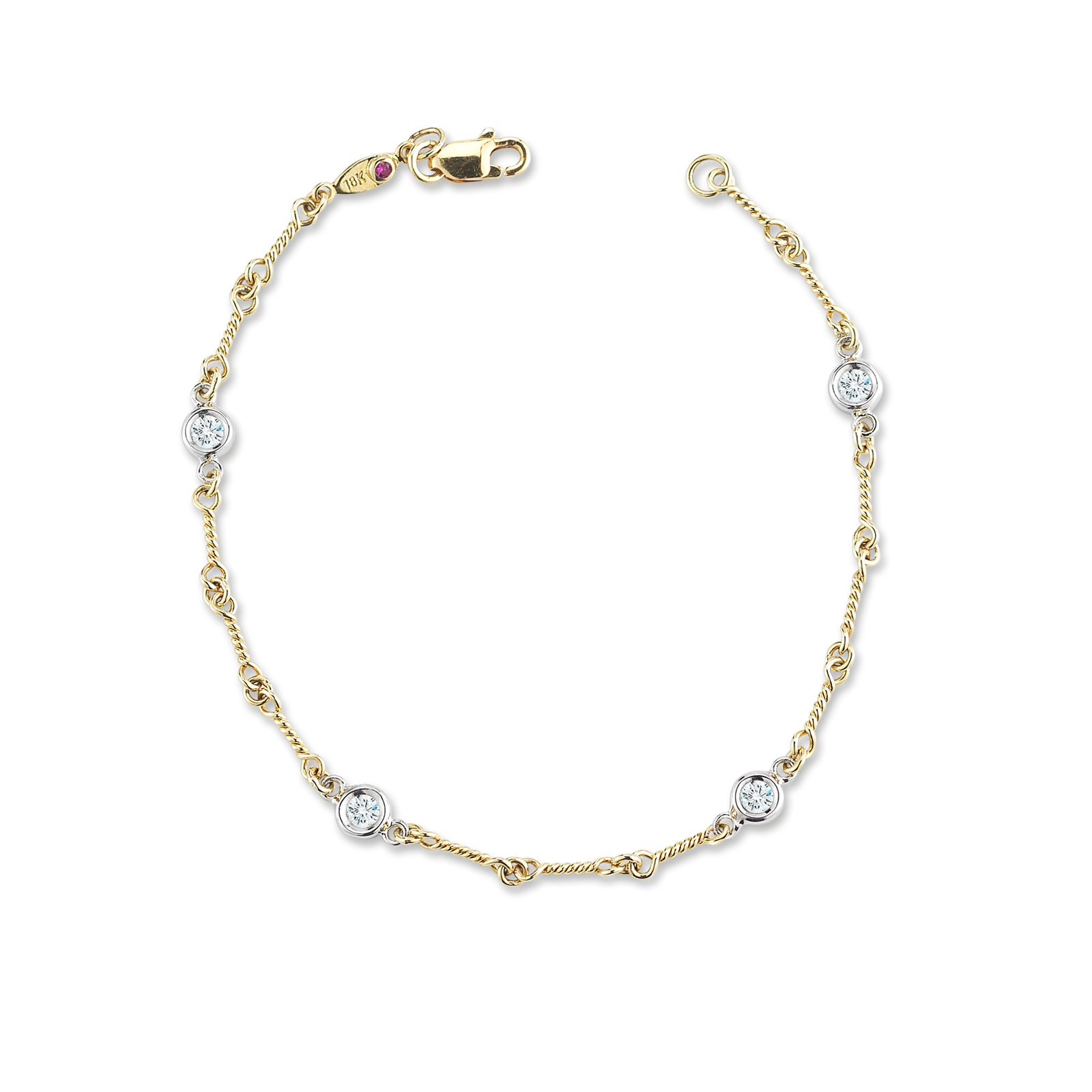 Png gold chain. Dogbone bracelet with diamond