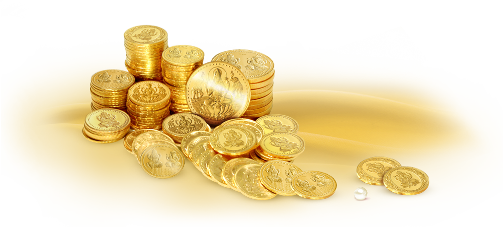 Gold coins .png. And bars i