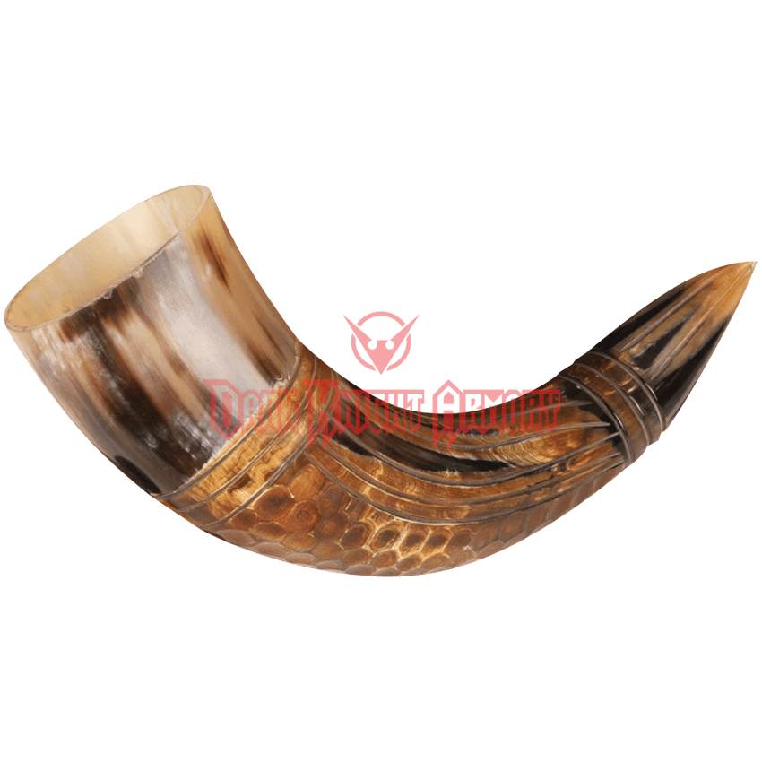 Png gold icon shofar horn. Dragon drinking from dark