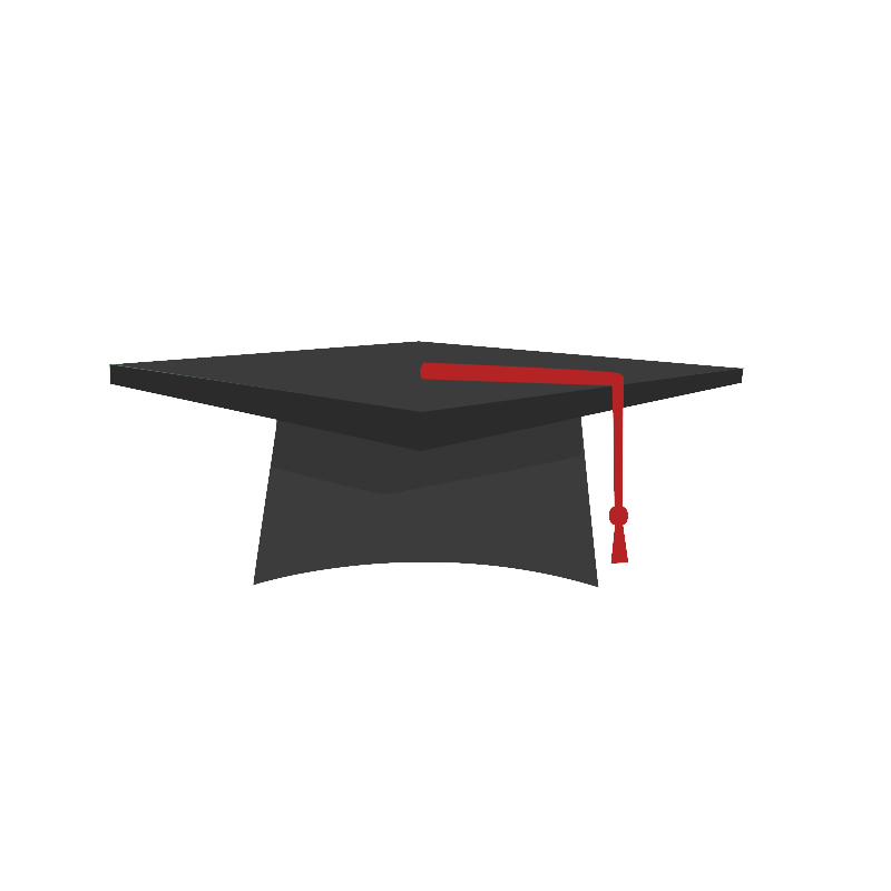 Png graduation hat. Cap icon motion graphic