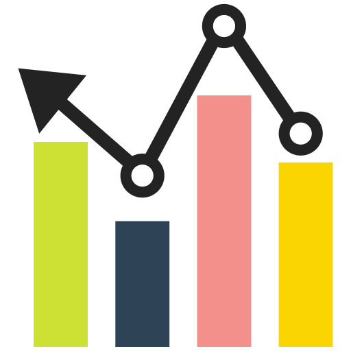 Png graph. Growth arrow bar icon