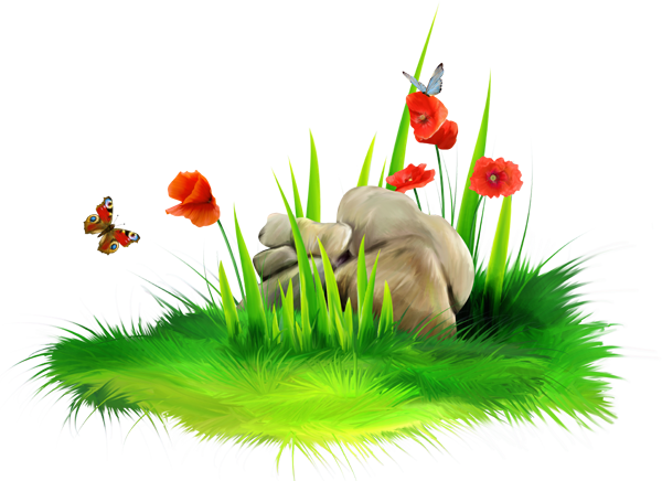 Png grass. With stone clipart picture