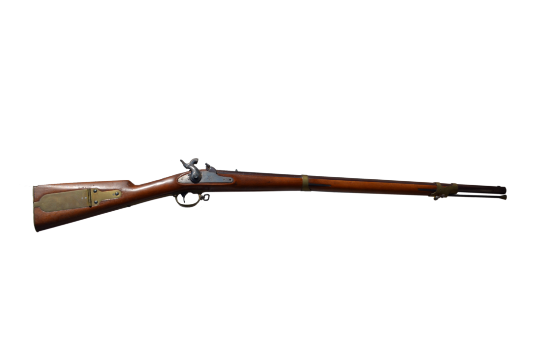 Old rifle png. Gun stock photo frontview