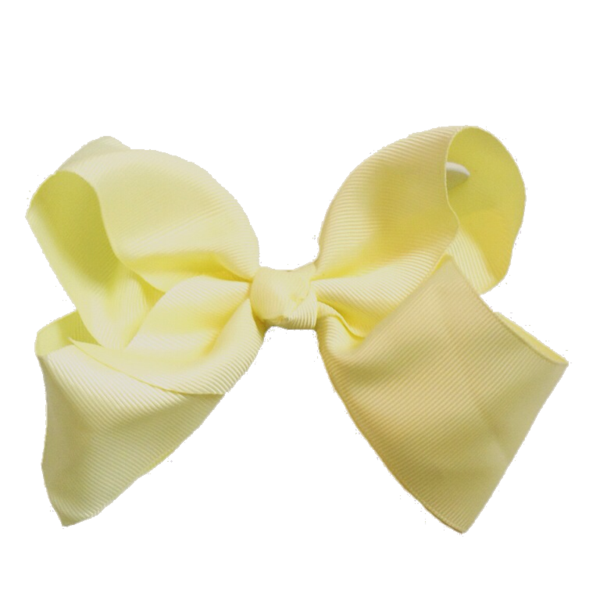Png hair bow. Jumbo pale yellow cutie