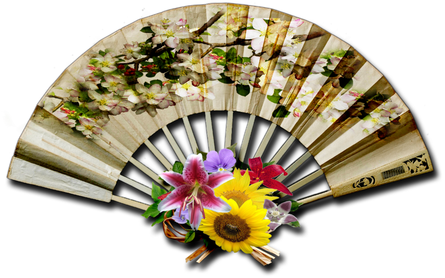 Png hand fan. Vintage decorative stock by