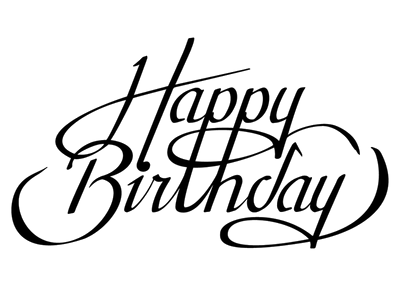 Png happy birthday. Calligraphy transparent mart